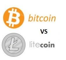 Bitcoin mot Litecoin Prisdiagram