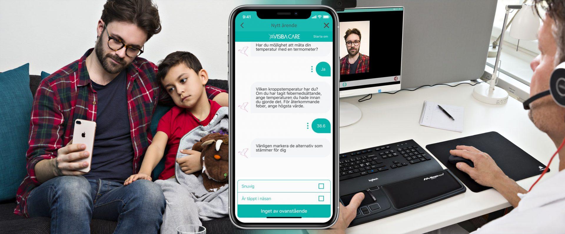 Med hjälp av AI-teknik guidar Visiba Cares tjänst Red Robin patienter och vårdpersonal.